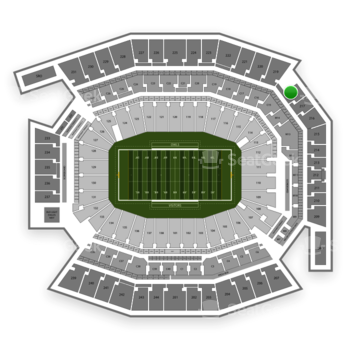 Temple Owls Football at Lincoln Financial Field Section 218 View