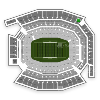 Temple Owls Football at Lincoln Financial Field Section 219 View