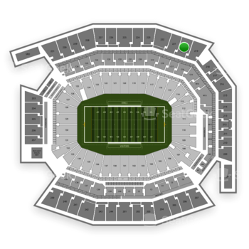 Temple Owls Football at Lincoln Financial Field Section 220 View