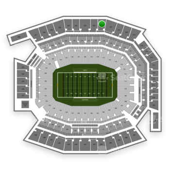 Temple Owls Football at Lincoln Financial Field Section 223 View