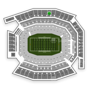 Temple Owls Football at Lincoln Financial Field Section 224 View
