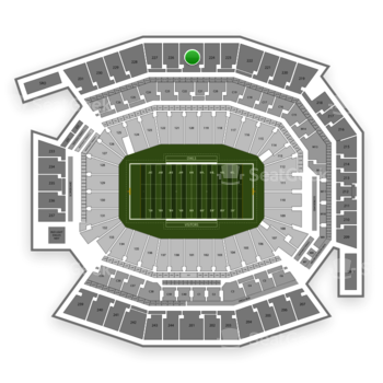 Temple Owls Football at Lincoln Financial Field Section 225 View