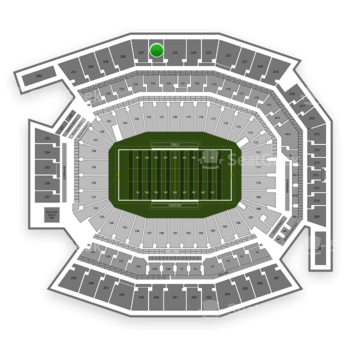 Temple Owls Football at Lincoln Financial Field Section 226 View