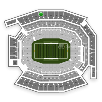 Temple Owls Football at Lincoln Financial Field Section 227 View
