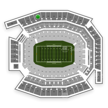 Temple Owls Football at Lincoln Financial Field Section 228 View