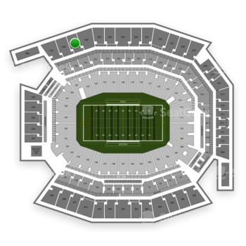 Temple Owls Football at Lincoln Financial Field Section 229 View
