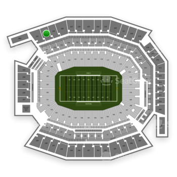 Temple Owls Football at Lincoln Financial Field Section 230 View