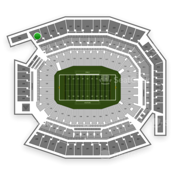 Temple Owls Football at Lincoln Financial Field Section 231 View