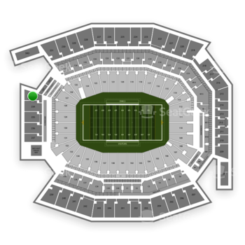 Temple Owls Football at Lincoln Financial Field Section 233 View