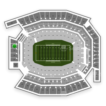 Temple Owls Football at Lincoln Financial Field Section 234 View