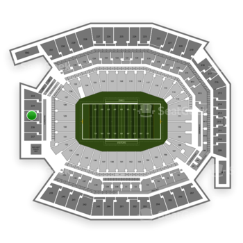 Temple Owls Football at Lincoln Financial Field Section 235 View