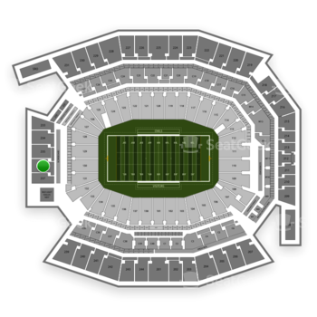 Temple Owls Football at Lincoln Financial Field Section 236 View