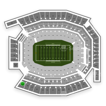 Temple Owls Football at Lincoln Financial Field Section 239 View