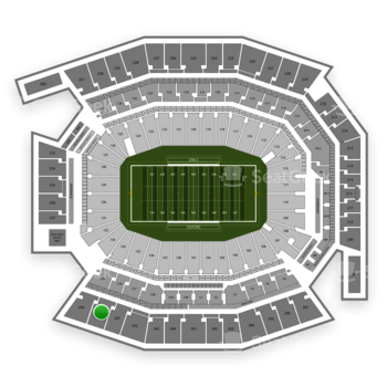 Temple Owls Football at Lincoln Financial Field Section 240 View
