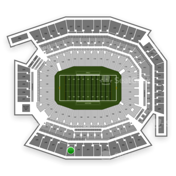 Temple Owls Football at Lincoln Financial Field Section 243 View