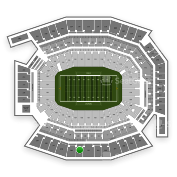 Temple Owls Football at Lincoln Financial Field Section 244 View