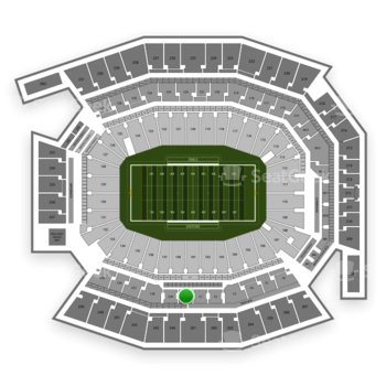 Temple Owls Football at Lincoln Financial Field C 40 View