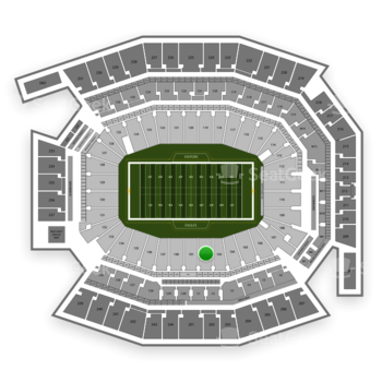 Philadelphia Eagles at Lincoln Financial Field Section 102 View