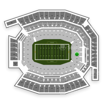 Philadelphia Eagles at Lincoln Financial Field Section 110 View