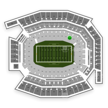 Philadelphia Eagles at Lincoln Financial Field Section 116 View