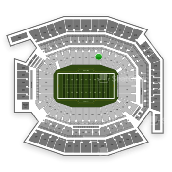 Philadelphia Eagles at Lincoln Financial Field Section 118 View
