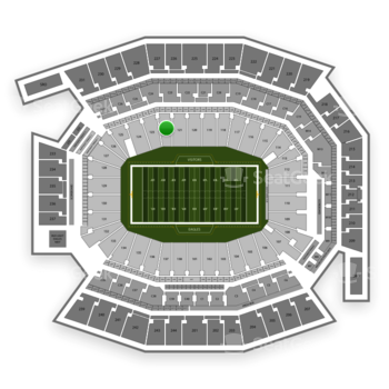 Philadelphia Eagles at Lincoln Financial Field Section 122 View