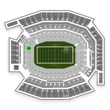 Philadelphia Eagles at Lincoln Financial Field Section 128 View