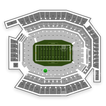 Philadelphia Eagles at Lincoln Financial Field Section 137 View