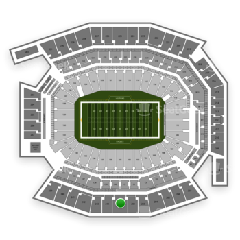 Philadelphia Eagles at Lincoln Financial Field Section 201 View