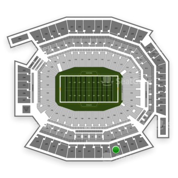Philadelphia Eagles at Lincoln Financial Field Section 204 View