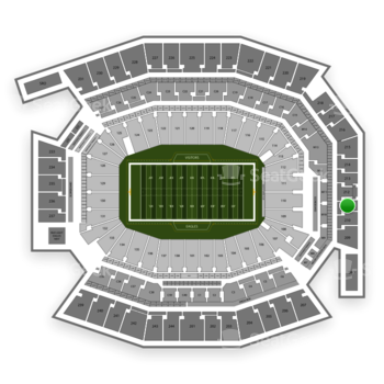 Philadelphia Eagles at Lincoln Financial Field Section 211 View