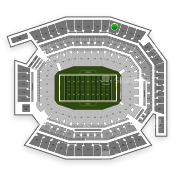 Philadelphia Eagles at Lincoln Financial Field Section 222 View