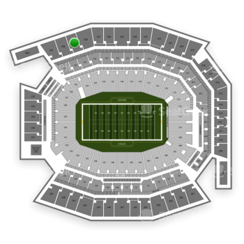 Philadelphia Eagles at Lincoln Financial Field Section 229 View