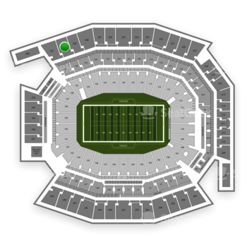 Philadelphia Eagles at Lincoln Financial Field Section 230 View