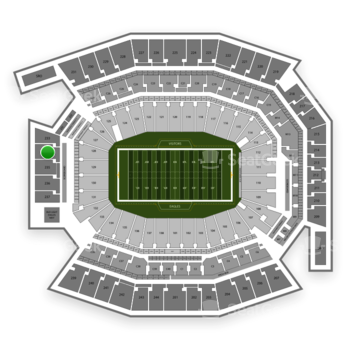 Philadelphia Eagles at Lincoln Financial Field Section 234 View