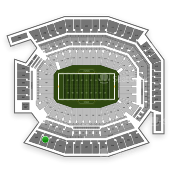 Philadelphia Eagles at Lincoln Financial Field Section 240 View