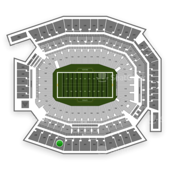 Philadelphia Eagles at Lincoln Financial Field Section 242 View
