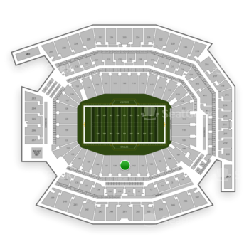 Philadelphia Eagles at Lincoln Financial Field Section 101 View
