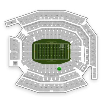 Philadelphia Eagles at Lincoln Financial Field Section 103 View