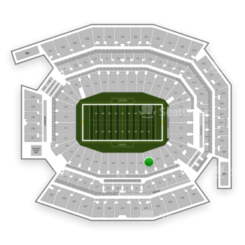 Philadelphia Eagles at Lincoln Financial Field Section 104 View