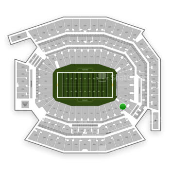Philadelphia Eagles at Lincoln Financial Field Section 107 View