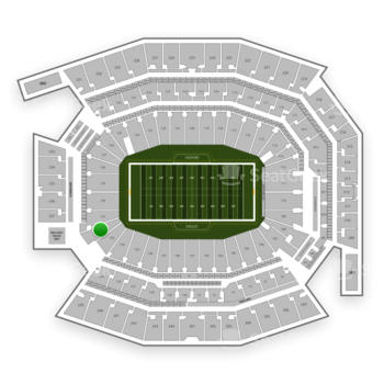 Philadelphia Eagles at Lincoln Financial Field Section 132 View