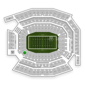 Philadelphia Eagles at Lincoln Financial Field Section 133 View