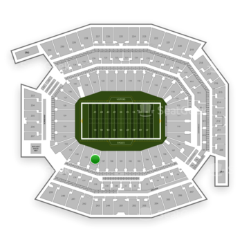 Philadelphia Eagles at Lincoln Financial Field Section 136 View