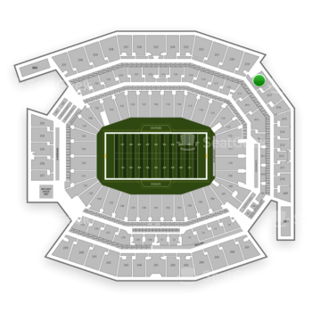 Philadelphia Eagles at Lincoln Financial Field Section 218 View