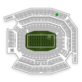 Philadelphia Eagles at Lincoln Financial Field Section 221 View