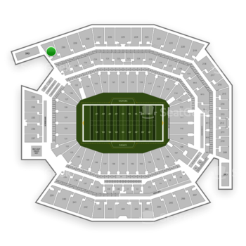 Philadelphia Eagles at Lincoln Financial Field Section 231 View