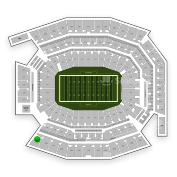 Philadelphia Eagles at Lincoln Financial Field Section 239 View