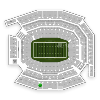 Philadelphia Eagles at Lincoln Financial Field Section 243 View