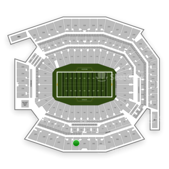 Philadelphia Eagles at Lincoln Financial Field Section 244 View